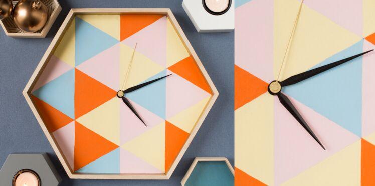 Idée cadeau pour Noël : l'horloge géométrique