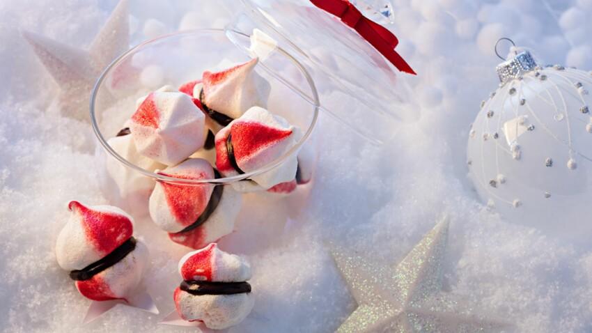 """Des petites meringues """"kisses"""" pour Noël"""