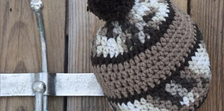 Un bonnet douillet au crochet