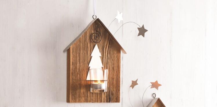 Décorations de Noël : des photophores en bois