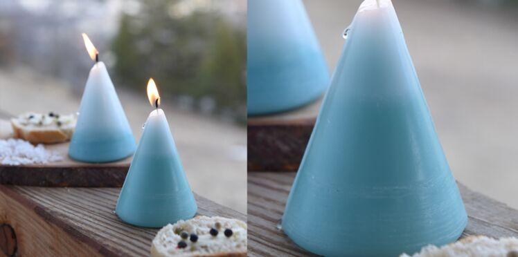 Décorations de Noël : des bougies tie and dye