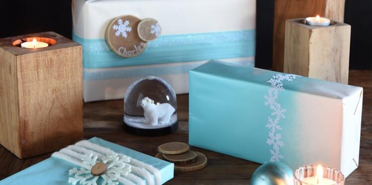 Activités manuelles de Noël : des paquets cadeaux givrés