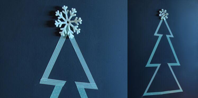 Idée express de Noël : un sapin en masking tape
