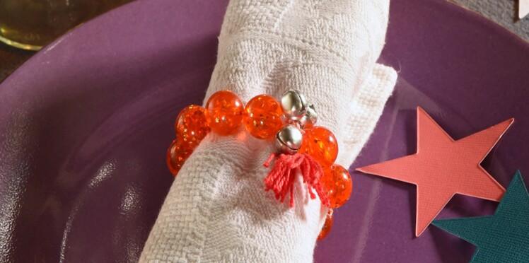 Décor de Noel, déco express : le rond de serviette bracelet