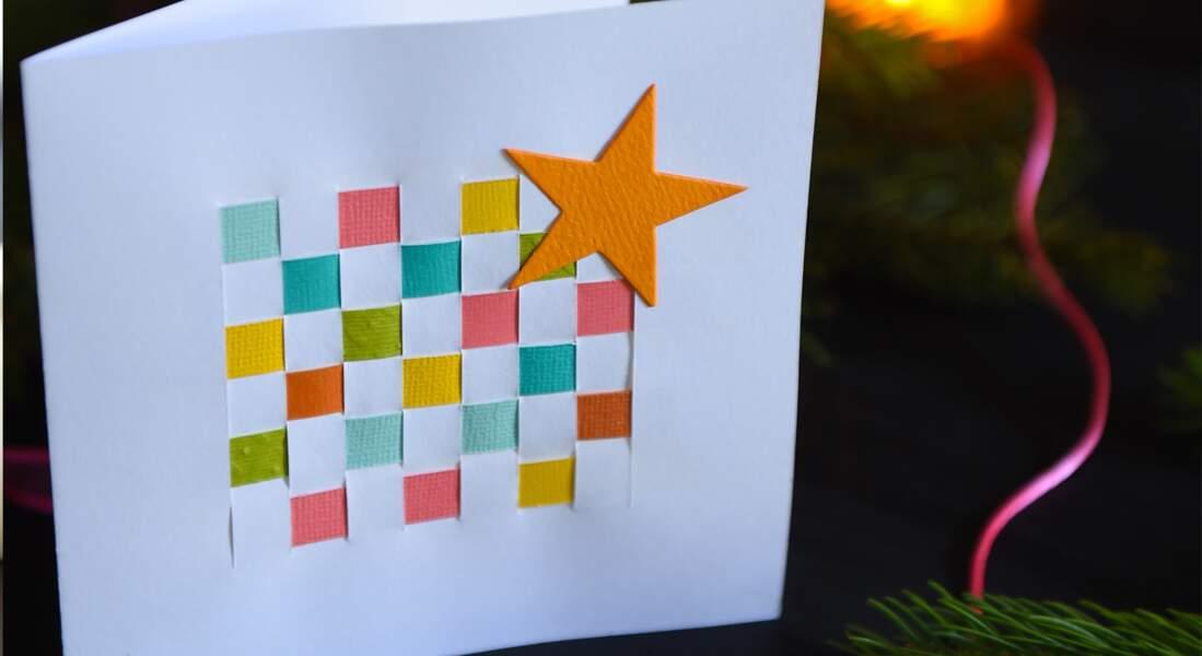 Cartes de Noel à faire soi-même avec rubans papier