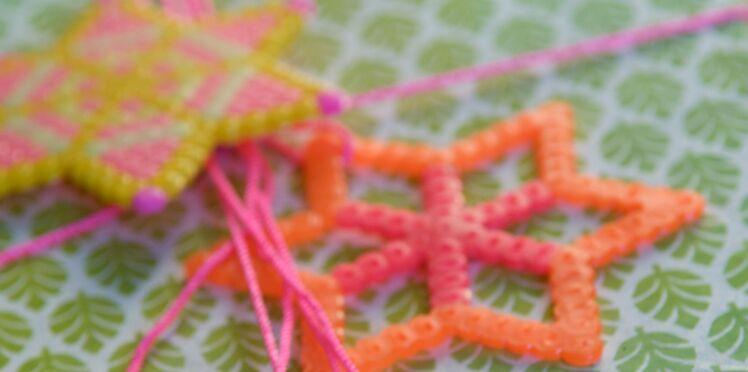Idée express de Noël : des étoiles en perles hama