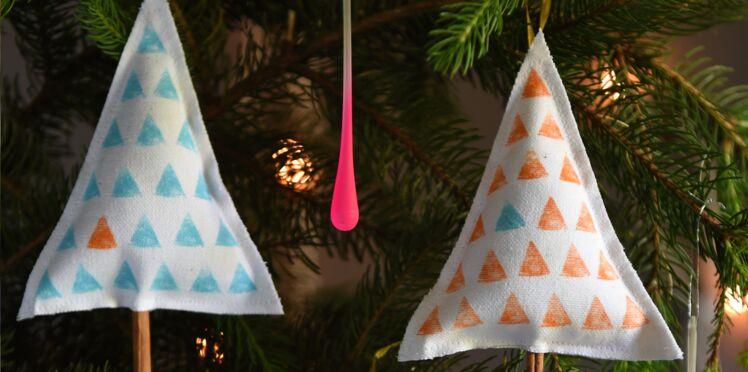 Activités manuelles de Noël : des sapins parfumés à accrocher