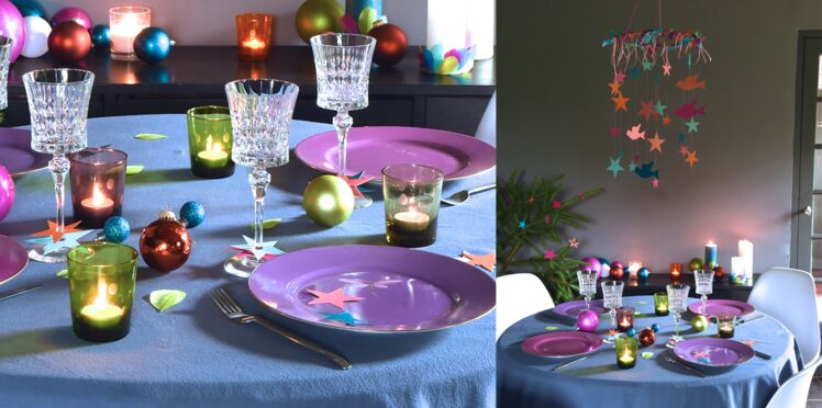 Décoration de Noel, une table dans les étoiles