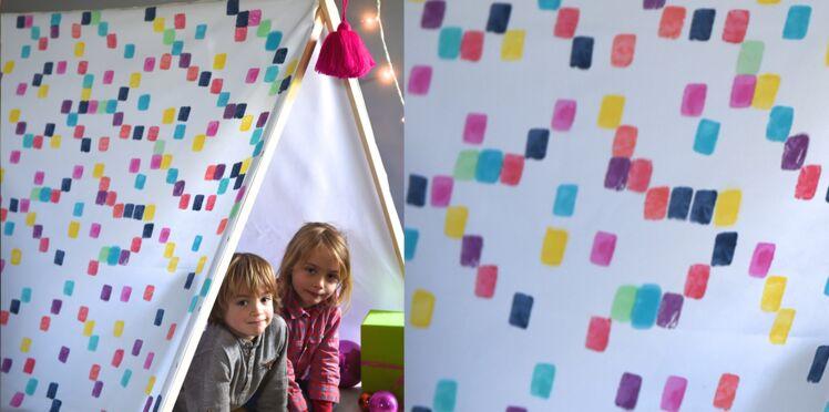 Teinture : une tente pour les enfants