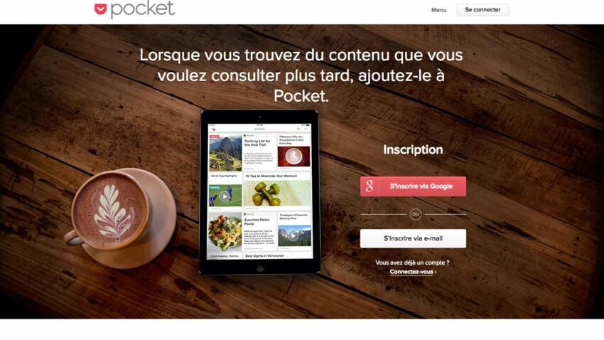 Pocket  : l'application pour sauvergarder en un clic