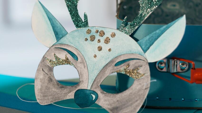 Masques à colorier pour Noël