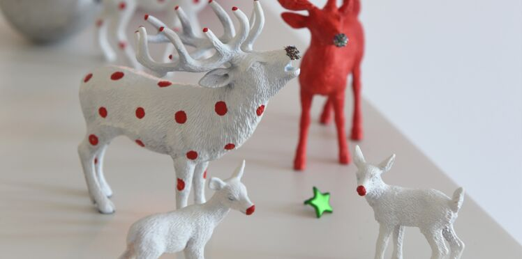 Décor de Noel, déco express : des figurines peintes