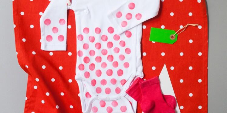 Un ensemble pour bébé aux couleurs de Noël