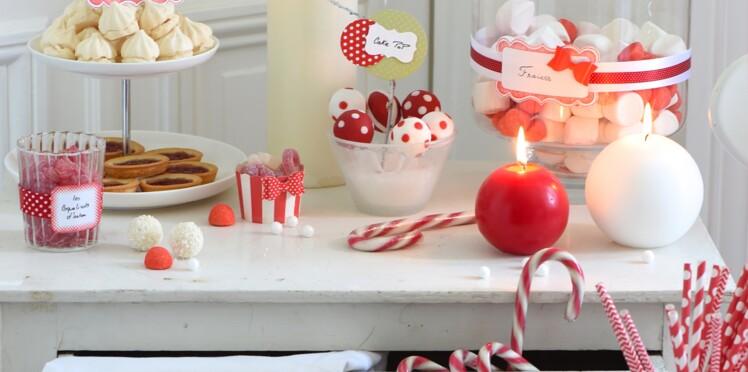 Décorations de Noël : sweet table de friandises