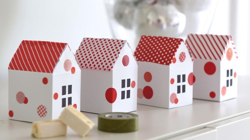 Idée express de Noël : des maisonnettes cadeaux d'assiette
