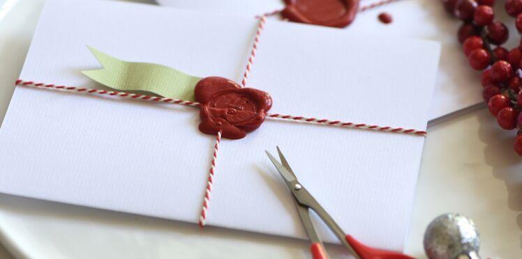 Décorations de Noël : un menu façon lettre ancienne