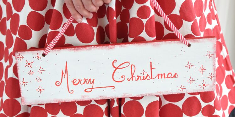Bricolage de Noël : Une pancarte de bienvenue