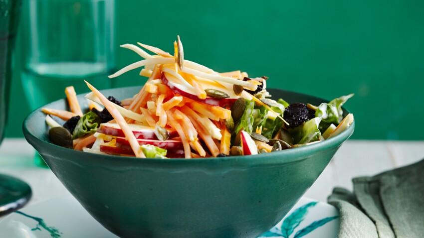 Salades de carottes et céleri aux fruits secs