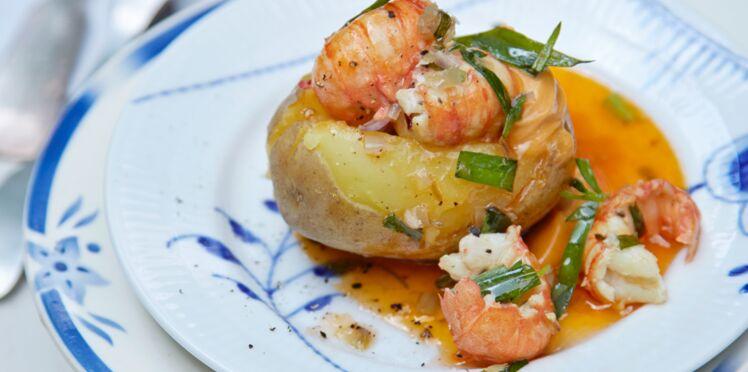 Pommes de terre aux langoustines