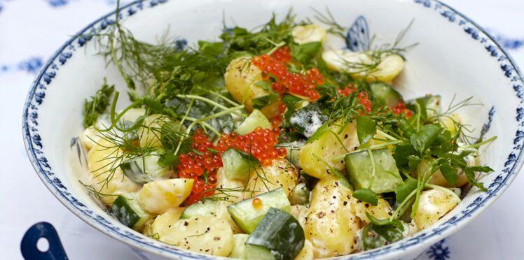 Salade de pommes de terre et de concombre à l'aneth