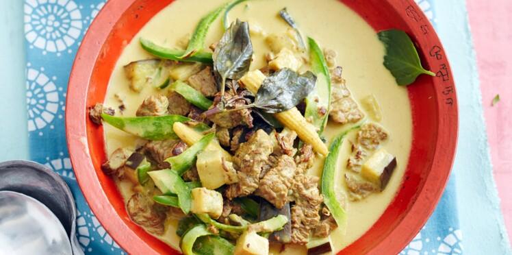 Curry vert de bœuf