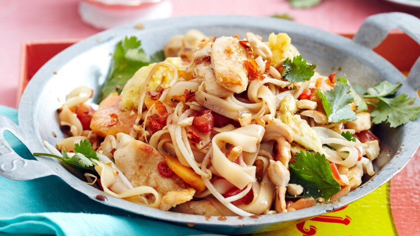Pad thaï au poulet revisité