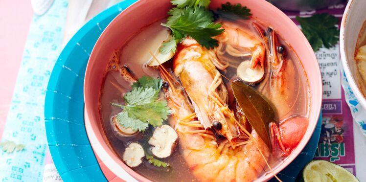 Soupe thaï de crevettes à citronnelle