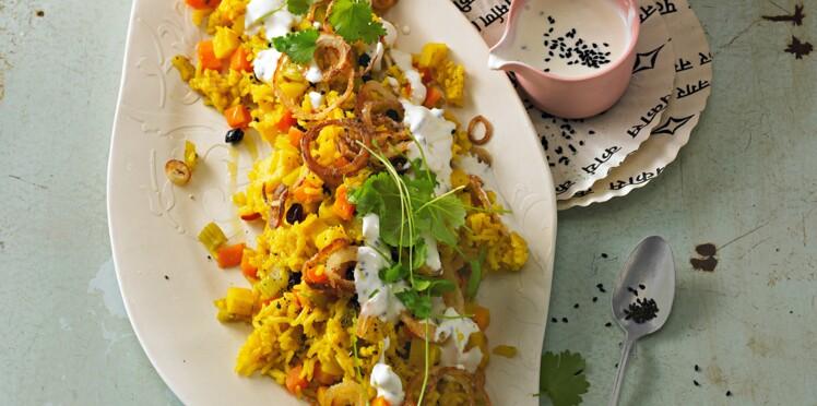 Riz pilaf au panais et curry doux