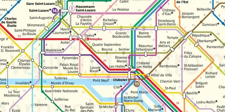 Une carte pour découvrir Paris à pied sans perdre de temps