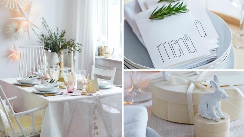 Une décoration de table délicate en pastel et or