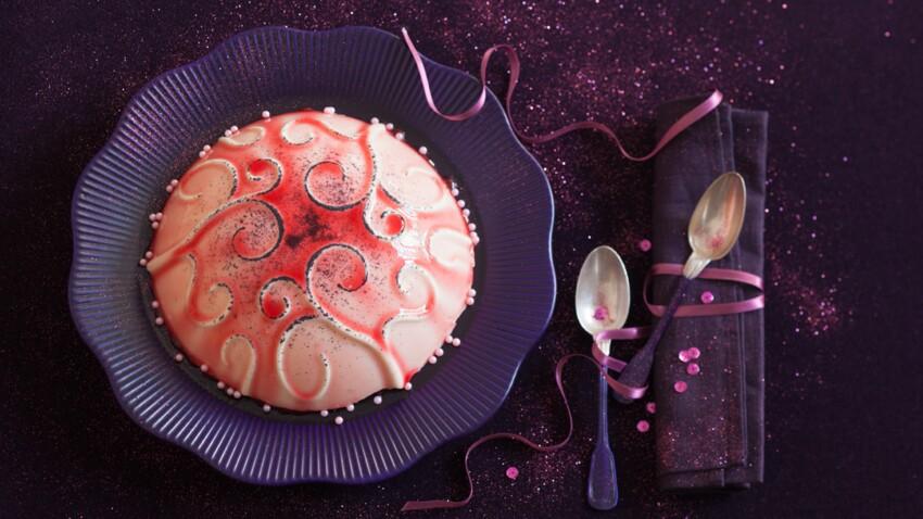 Gâteau bijou : le dôme rubis