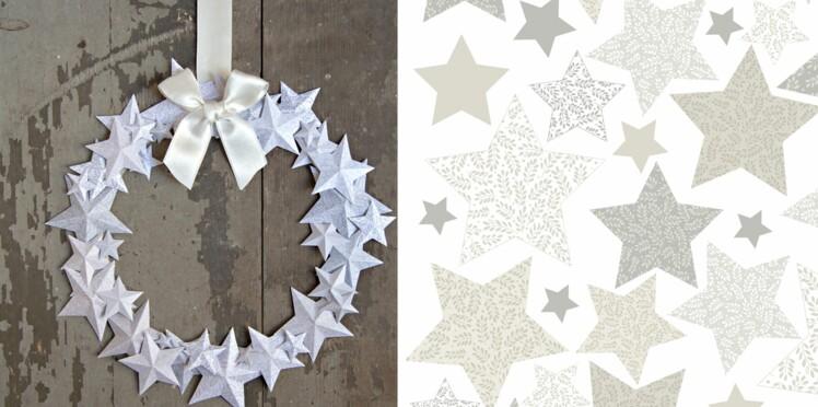Couronne de l'Avent : une ronde d'étoiles en papier pour Noël