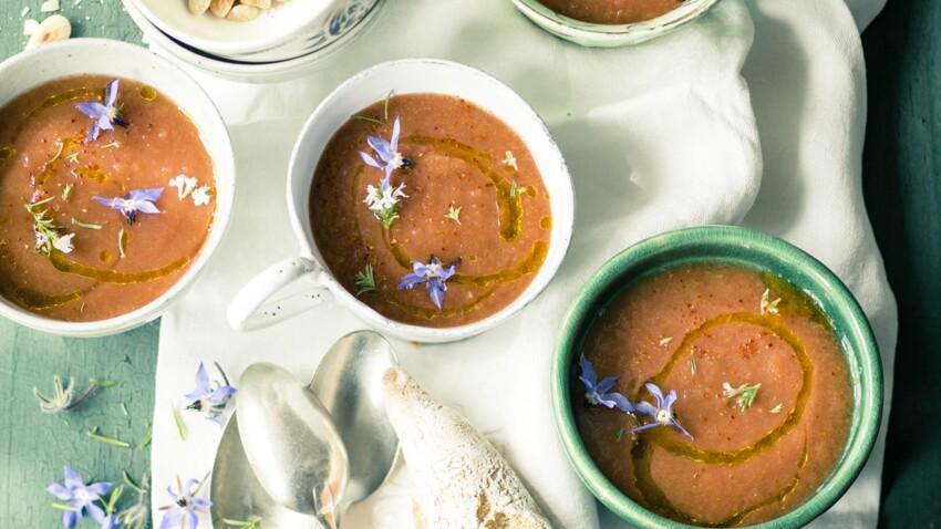 Gaspacho de tomates aux amandes