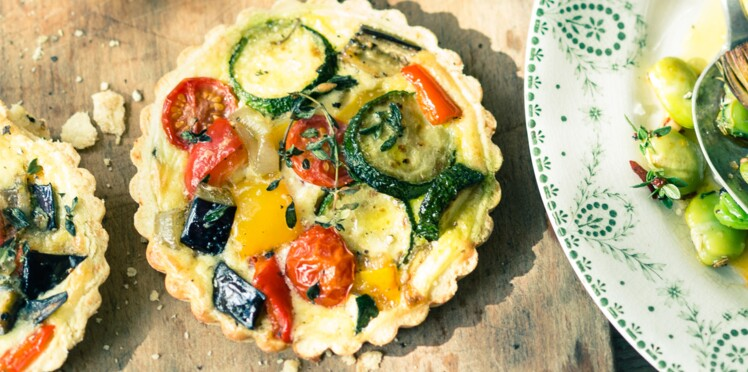Tartelettes aux légumes du soleil