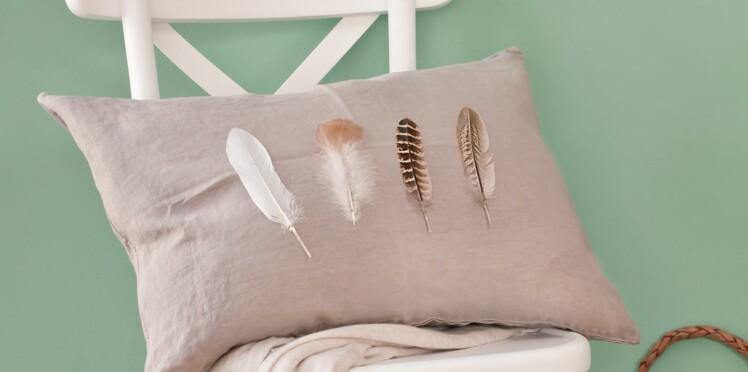 Je crée un coussin à plumes