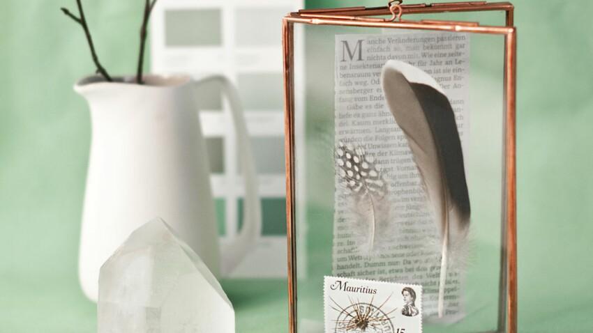 Un cadre photo pour une décoration nature