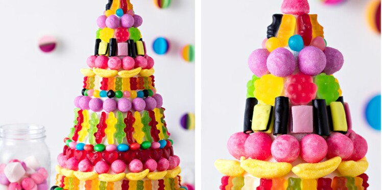 Un gâteau de bonbons géant pour une sweet table