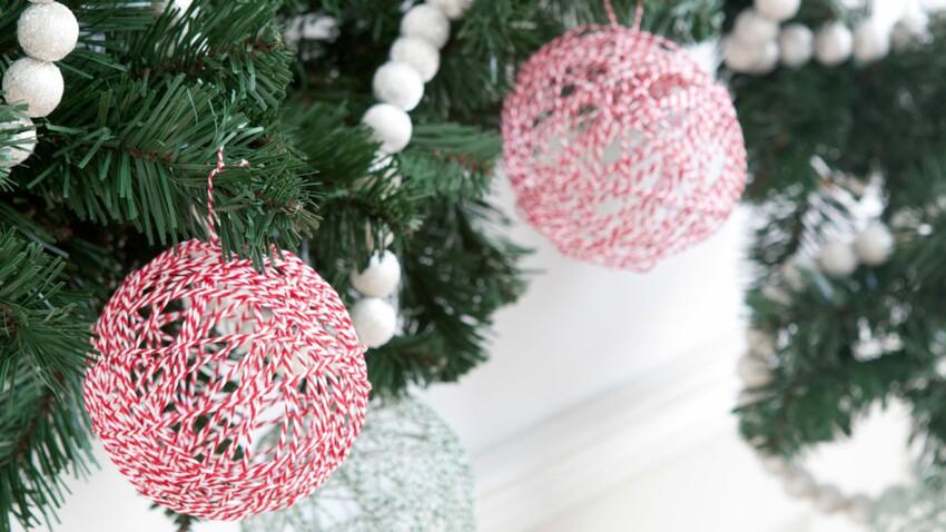 Des boules aériennes pour ma déco de Noël