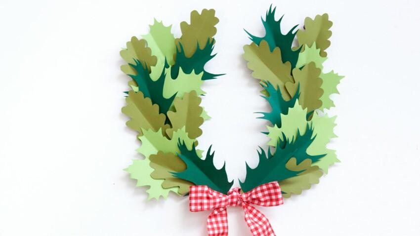 Déco de Noël : une couronne de lauriers