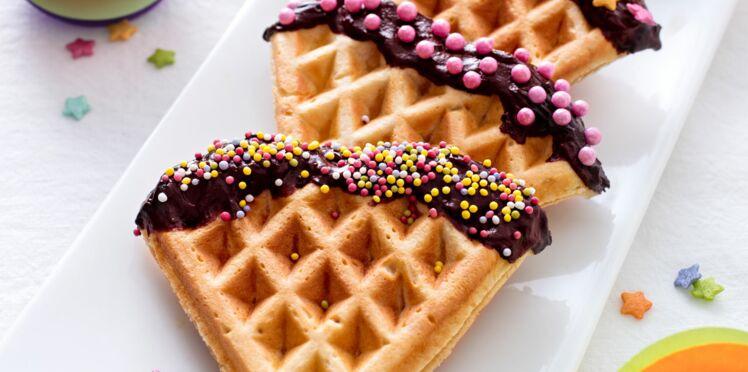 Des gaufres décorées de chocolat pour Mardi Gras