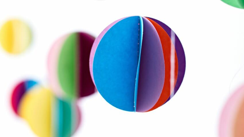 Mardi Gras : une guirlande colorée pour ma déco