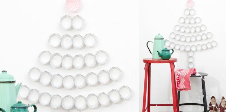 Noël : Un sapin express en caissettes à cupcake