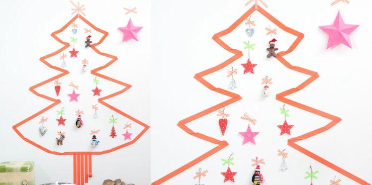 Un sapin mural express pour ma décoration de Noël