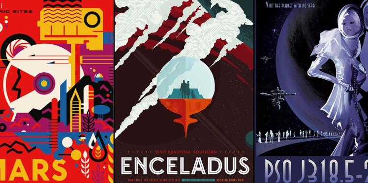 Les magnifiques affiches rétrofuturistes de la NASA (diaporama)