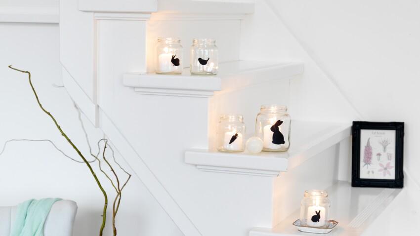 Des bougies photophores pour Pâques