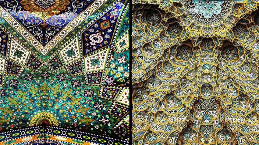 L'incroyable beauté des plafonds d'Iran