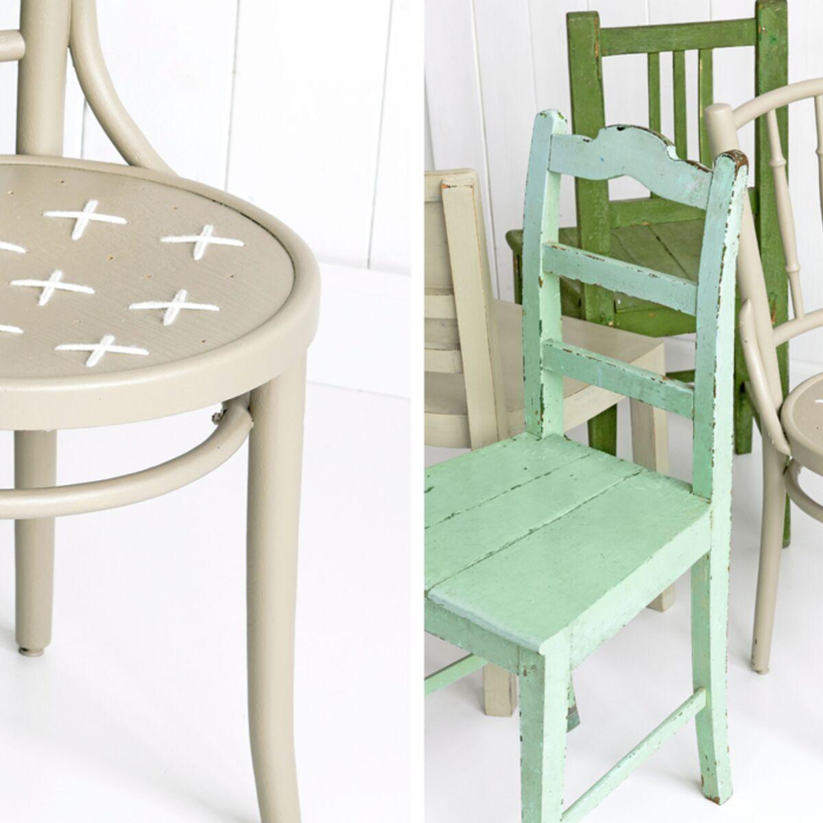 Renover Une Chaise Medaillon des chaises customisées esprit vintage : femme actuelle le mag