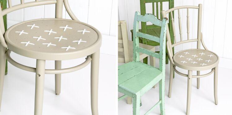 Des chaises customisées esprit vintage