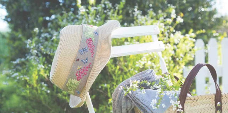 Un chapeau brodé pour l'été