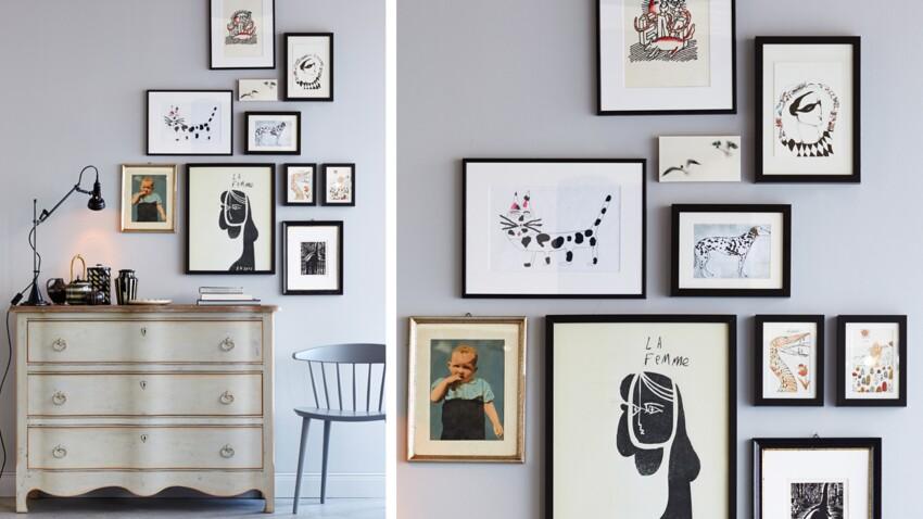 Des tableaux en pêle-mêle pour mes murs